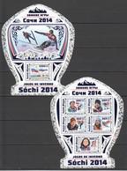 ST966 !! HOLOGRAPHIC 2016 GUINE GUINEA-BISSAU SPORTS OLYMPIC GAMES SOCHI 2014 1KB+1BL MNH - Inverno 2014: Sotchi