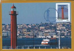 Farol De Cacilhas, Almada. Farol De Orientação Marítima No Rio Tejo.Cacilhas Lighthouse. Maritime Orientation Tagus Rive - Nature