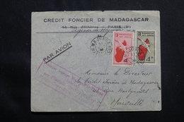 MADAGASCAR - Enveloppe Commerciale Du 1er Vol Madagascar / Europe Avec Escales En  1936 Pour Marseille - L 54997 - Brieven En Documenten
