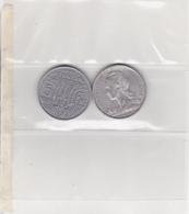 Pièce De Monnaie REUNION De 5fs De 1955 - Poids : 3,8gs - Diamètre : 31,2mm - Réunion