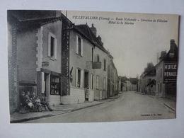 CPA, VILLEVALLIER, ROUTE NATIONALE DIRECTION DE VILLECIEN, HÔTEL DE LA MARINE, VOIR SCAN - France