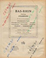 ANNUAIRE - 67 - Département Bas Rhin - Année 1947 - édition Didot-Bottin - 146 Pages (pub SNCF) - Annuaires Téléphoniques