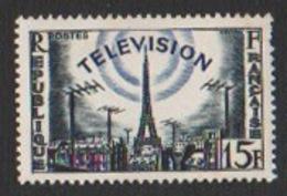 France Neuf Sans Charnière 1955 Communication La Télévision Tour Eiffel  YT 1022 - Frankreich