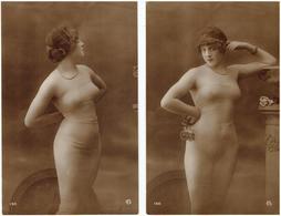 Érotique, Érotica, Erotic - FEMME NUE - AG N° 130 - 2 Cartes Postales - Nus Adultes (< 1960)