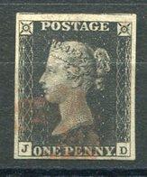RC 15963 GRANDE BRETAGNE N° 1 BLACK PENNY VERY FINE USED - TB - 1840-1901 (Victoria)