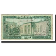 Billet, Lebanon, 5 Livres, KM:62b, TB - Liban