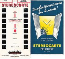 """STEREOCARTE  """" BRUGUIERE """"- Paysages D'Auvergne -  8 Vues En Relief Et En Couleurs - Photography"""