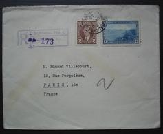 Montréal 1939 Lettre Recommandée Avec N°191 + 198  Pour Paris, France - Briefe U. Dokumente