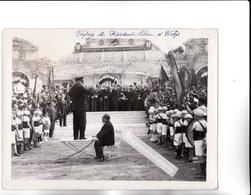 PHOTO - 03 - VICHY - Visite Du Président LEBRUN à VICHY Le 21 Mai 1933 - Très Belle Photo De 24cm Sur 18 - Lieux