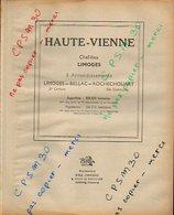 ANNUAIRE - 87 - Département Haute Vienne - Année 1947 - édition Didot-Bottin - 110 Pages - Telephone Directories