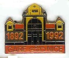 @@ NICE Sncf Train Chemin De Fer Gare Du Sud 1892-1992 (2.6x2) @@sn79c - Transport