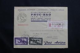 INDOCHINE - Enveloppe Commerciale De Hanoï Pour Paris En 1950, Affranchissement Plaisant - L 55007 - Indochina (1889-1945)