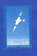 FRANCE 1992 JEUX PARALYMPIQUES A TIGNES NEUF - Francia