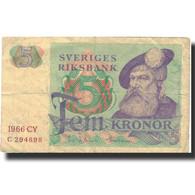 Billet, Suède, 5 Kronor, 1966, 1966, KM:51a, TB - Suède