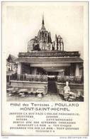 Carte Postale 50. Le Mont St-Michel   Hotel Des Terrasses Mère Poulard Trés Beau Plan - Le Mont Saint Michel