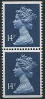 1988 Gran Bretagna, Elisabetta II° Serie Ordinaria 14 P. Coppia Verticale, Serie Completa Nuova (**) - Neufs