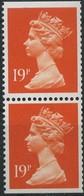 1988 Gran Bretagna, Elisabetta II° Serie Ordinaria 19 P. Coppia Verticale, Serie Completa Nuova (**) - Neufs