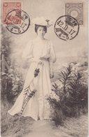 JAPON : Femme à L'ombrelle . - Other