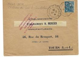FRANCE 1928: Belle LSC Affranchie à 50c., Avec Très Beaux CAD ''Convoyeur De Ligne'' - Covers & Documents