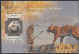Saint Thomas 2014 Prehistory Prehistoric Homme Ammonite MNH - Prehistory