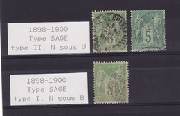 Lot SAGE 1898-1900 Obli  F643 - France