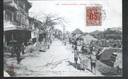 Cochinchine, Cholon, Les Quais, Timbre Indochine Y & T N°60 - Vietnam