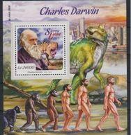 Sierra Leone 2015 Prehistory Prehistoire Charles DARWIN Dinosaur  MNH - Preistoria