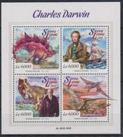 Sierra Leone 2015 Prehistory Prehistoire Charles DARWIN Dinosaur  MNH - Prehistory