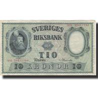 Billet, Suède, 10 Kronor, 1952, 1952, KM:40m, TTB - Suède