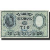 Billet, Suède, 10 Kronor, 1955, 1955, KM:43c, TTB - Suède