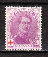 131*  Albert Ier Petit Médaillon - La Bonne Valeur - MH* - Authentique - LOOK!!!! - 1914-1915 Red Cross