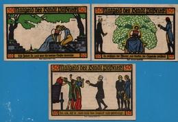 PÖSSNECK STADT 3x50pf  31.07.1921  NOTGELD - [11] Lokale Uitgaven