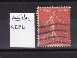 Semeuse Variete 1   F662 - Curiosità: 1900-20 Usati