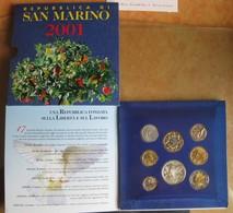 San Marino. Coffret FDC 2001, La Serie Complète. - San Marino