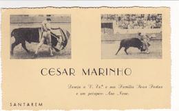 Portugal -  Tauromaquia -cartão De Boas Festas Cesar Marinho -Santarem - Lisboa