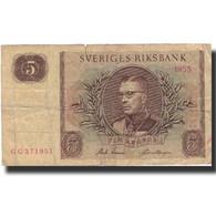Billet, Suède, 5 Kronor, 1956, 1956, KM:42c, B - Suède