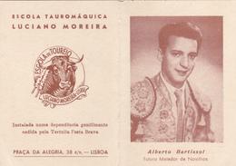 Portugal -  Tauromaquia -cartão De Boas Festas -Alberto  Bartissol - Lisboa