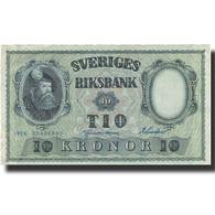 Billet, Suède, 10 Kronor, 1956, 1956, KM:43d, TTB - Suède