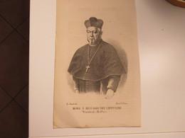 Religione Antica Stampa Cristianesimo Mons E Rico Gaio Dei Cappuccini Vescovo Di Bobbio Dis. G.Amato - Old Paper