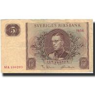 Billet, Suède, 5 Kronor, 1956, 1956, KM:42c, TB - Suède