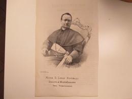 Religione Antica Stampa Cristianesimo Mons D.Luigi ROTELLI Vescovo Di Montefiascone Terz.Francescano - Old Paper