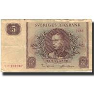 Billet, Suède, 5 Kronor, 1956, 1956, KM:42f, B - Suède