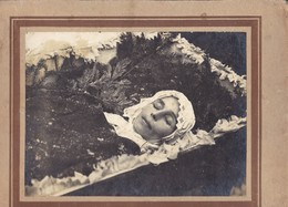POST MORTEM  FUNERAL  Young Woman   - COFFIN  - Russia Russie Russian Antique Big  Photo 1920s - Anonymous Persons
