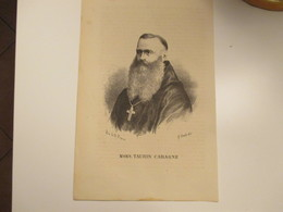 Religione Antica Stampa Cristianesimo Mons.TAURIN CAHAGNE Dis.G.Amato - Alte Papiere