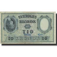 Billet, Suède, 10 Kronor, 1957, 1957, KM:43e, TB - Suède