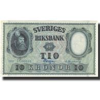 Billet, Suède, 10 Kronor, 1957, 1957, KM:43e, TTB+ - Suède