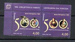 Bosnia Herzegovina Mostar 500th Ann. Death Of Da Vinci 2019 MNH - Bosnie-Herzegovine