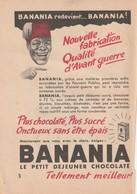 Rare Publicité  1950  Banania Format 13 X 18 Cm - Pubblicitari