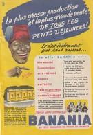 Rare Publicité  1951  Banania Format 13 X 18 Cm - Pubblicitari