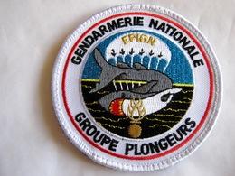 ECUSSON GENDARMERIE NATIONALE EPIGN LE GROUPE PLONGEURS ETAT EXCELLENT SUR VELCROS - Policia